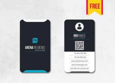 vertical business card psd free download