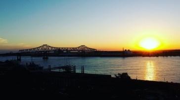 Coucher de soleil sur le Mississippi