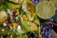 Zucchini Ribbon Salad with Sweet Corn, Avocado, and Feta