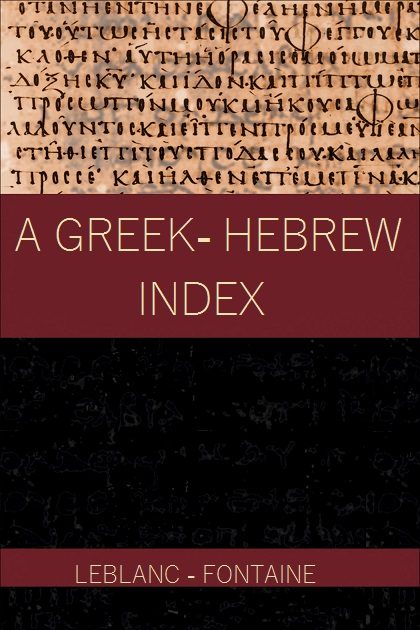 A Greek - Hebrew index