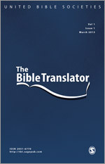 An Index to The Bible Translator