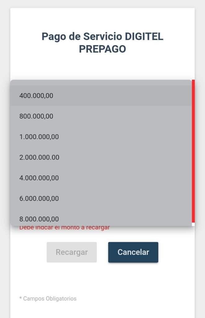 Digitel y Movistar aumentan monto mínimo de recarga