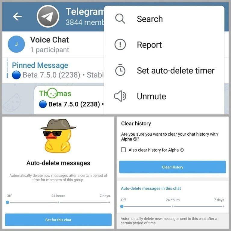Telegram beta 7.5 Telegram 7.5  Telegram versión 7.5