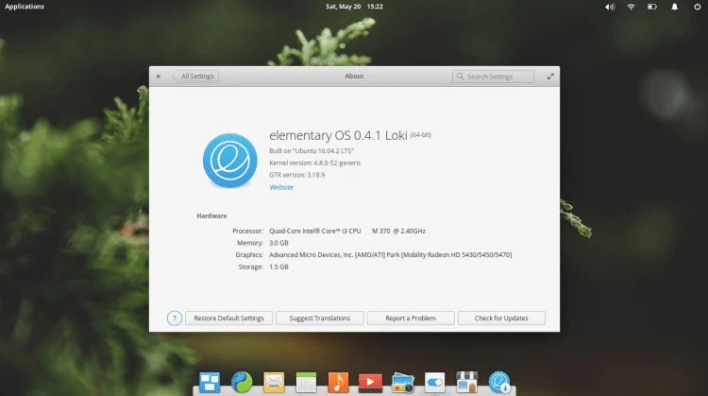 Elementary OS distro Linux 2021