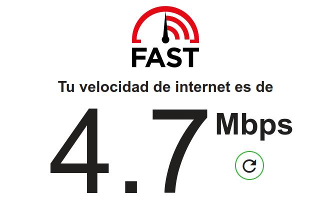 medir conexion a internet con fast