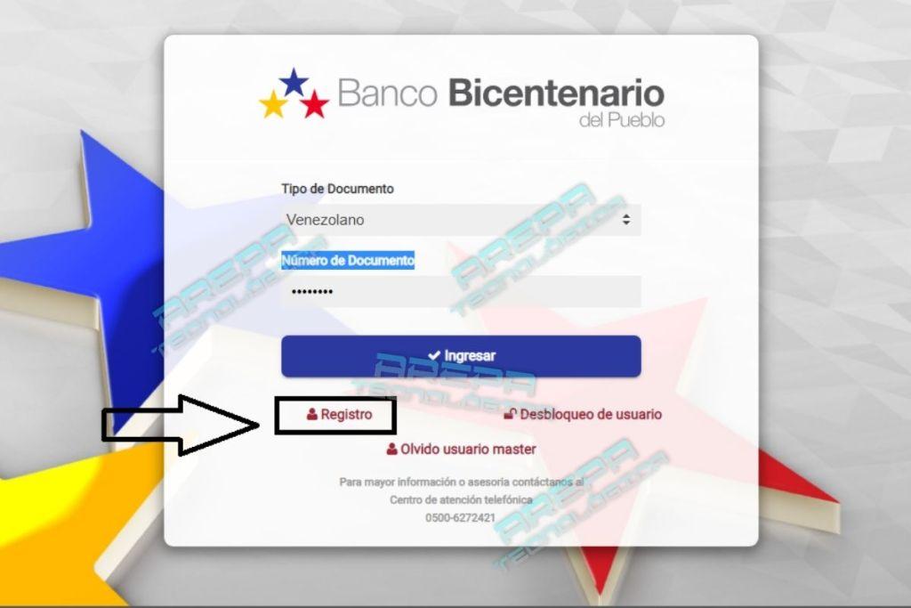 Registro en nueva plataforma del Banco Bicentenario