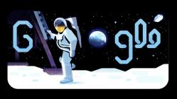 Ay'a iniş Google doodle oldu