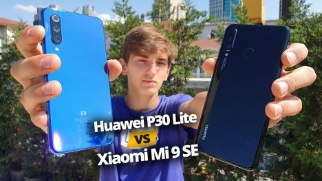 Huawei P30 Lite ve Xiaomi Mi 9 SE karşılaştırma