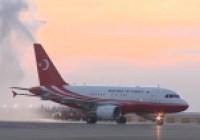 İstanbul'da tarihi gün: Yeni havalimanına ilk uçak indi!