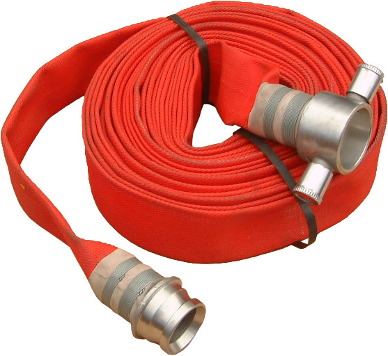 Red Fire Hoses with Coupling
