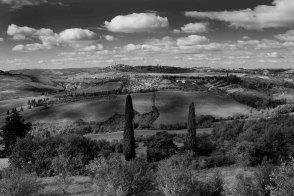 Pienza, seen from the Podere Il Casale