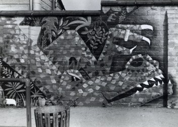 Hawtonville Art Project Dragon Mural, 1983 (detail) Nadia Nagual, Richard Perry and François Matarasso