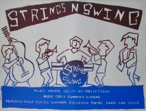 Hawtonville Poster, Strings 'n' Swing (1983)
