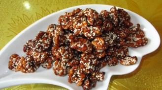 Toasted honeyed sesame seed walnuts