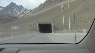 Chilean side of the tunnel that crosses into Argentine soil