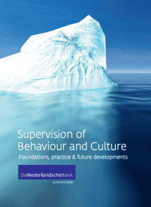 Supervision of behaviour and culture - foundations, practice & future developments - DNB Report Cover