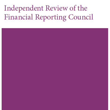 Cover of Independent review of the Financial Reporting Council (FRC) 2018: Final report