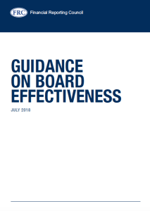 FRC Guidance on Board Effectiveness - https://www.frc.org.uk/getattachment/61232f60-a338-471b-ba5a-bfed25219147/2018-Guidance-on-Board-Effectiveness-FINAL.PDF