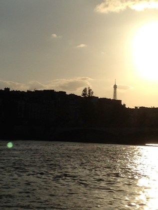 See, I'm really in Paris because you can see the Eiffel Tower