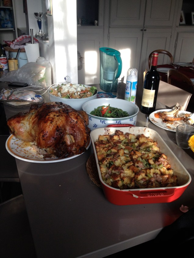 I forgot to take other pictures after this one, but that turkey! And the stuffing! So good.