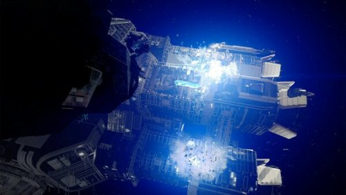 the expanse syfy roci blows up UN ship's engines