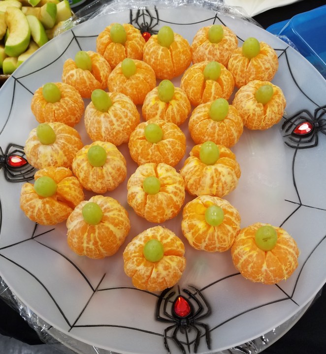 Healthy Halloween Treats For a Classroom or Co-Workers