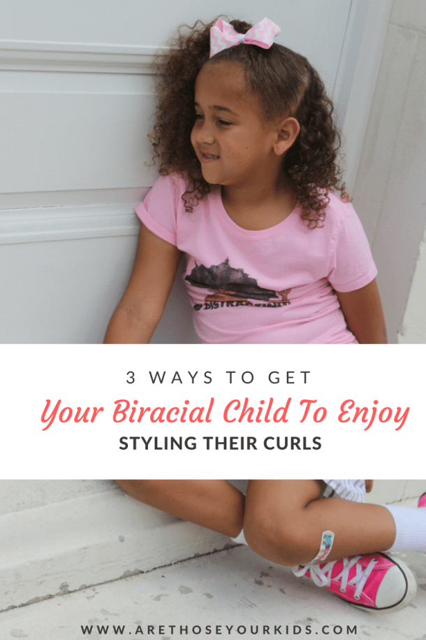 Styling curly hair can be a challenge, especially if your child makes the process difficult. Here are a few tried and true tips to help you with your child's hair.