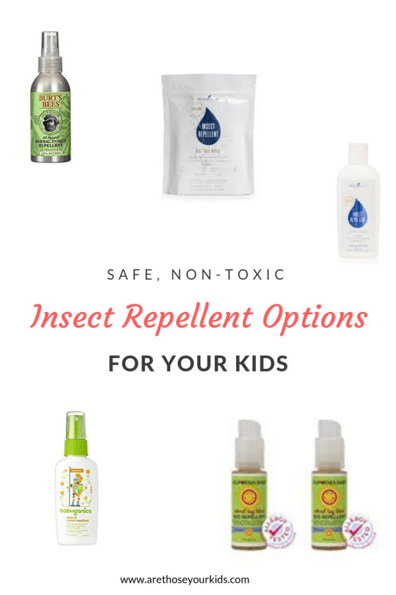 Finding non-toxic insect repellent options for your kids can be difficult with all the sythetics and toxic ingredients (such as DEET). Here is a great list!