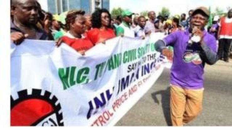 Nigerian labour protest