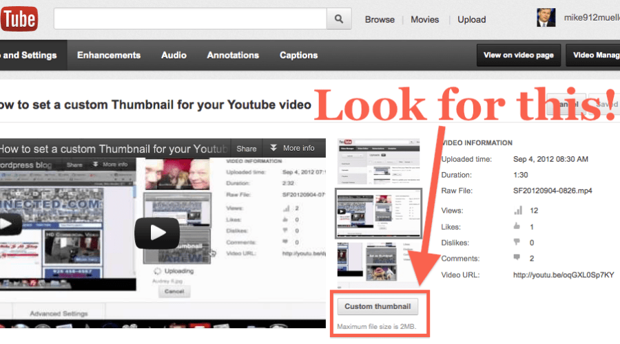 How to add a custom thumbnail to your YouTube Video