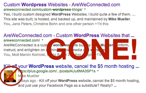What happened to my Google Authorship?