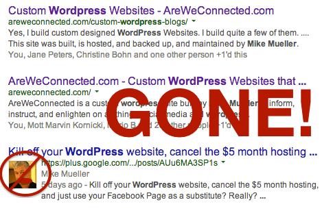 Google Authorship is Gone