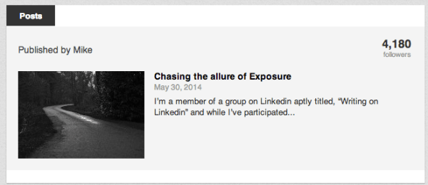 Long format posts on Linkedin