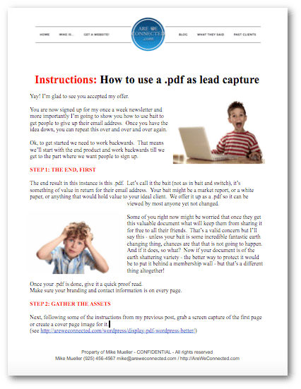 Thank You Heres The Instructions On How To Setup Lead Capture For