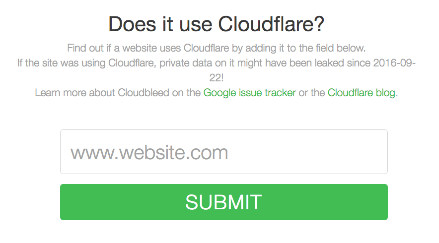 Does it use cloudflare?