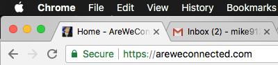 Secure website in Google Chrome