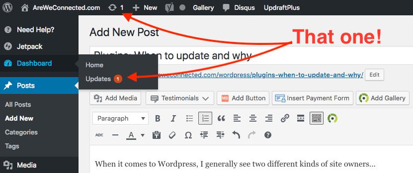 plugin update bubbles