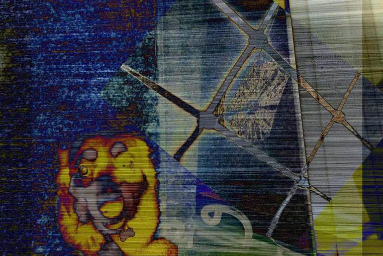 dog glitch art