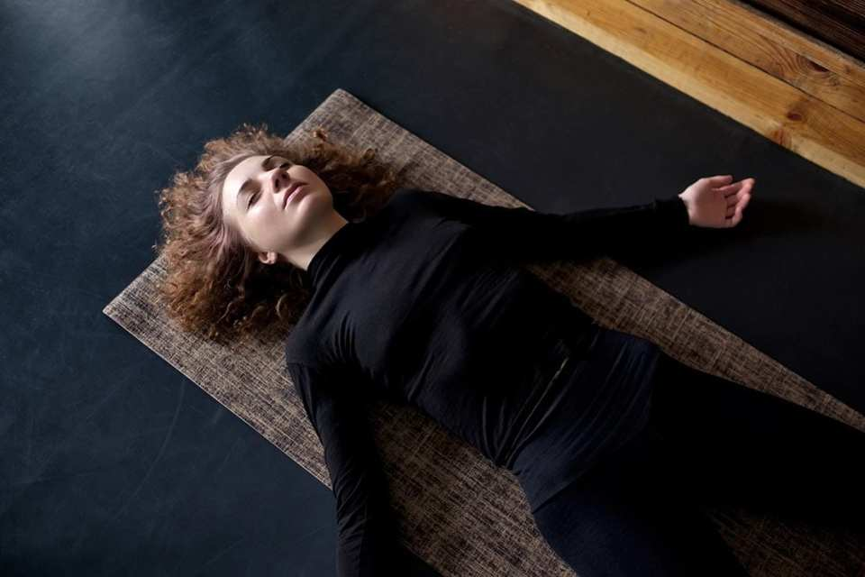 woman in shavasana