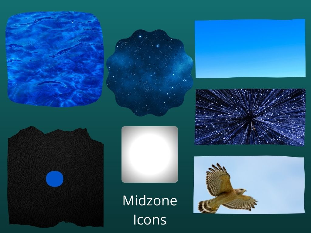 Icon examples - blue sky, water