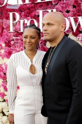 """Mel B and Stephen Belafonte seen at Open Road Presents the World Premiere of """"Mother's Day"""" at TCL Chinese Theatre on Wednesday, April 13, 2016, in Hollywood. (Photo by Steve Cohn/Invision for Open Road Films/AP Images)"""