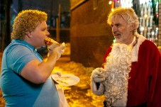 (l-r) Brett Kelly stars as Thurman Merman and Billy Bob Thornton as Willie Soke in BAD SANTA 2, a Broad Green Pictures and MIRAMAX release.