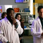 "POWERLESS -- ""Wayne Dream Team"" Episode 103 -- Pictured: (l-r) Jennie Pierson as Wendy, ROn Funches as Ron, Vanessa Hudgens as Emily,Danny Pudi as Teddy"