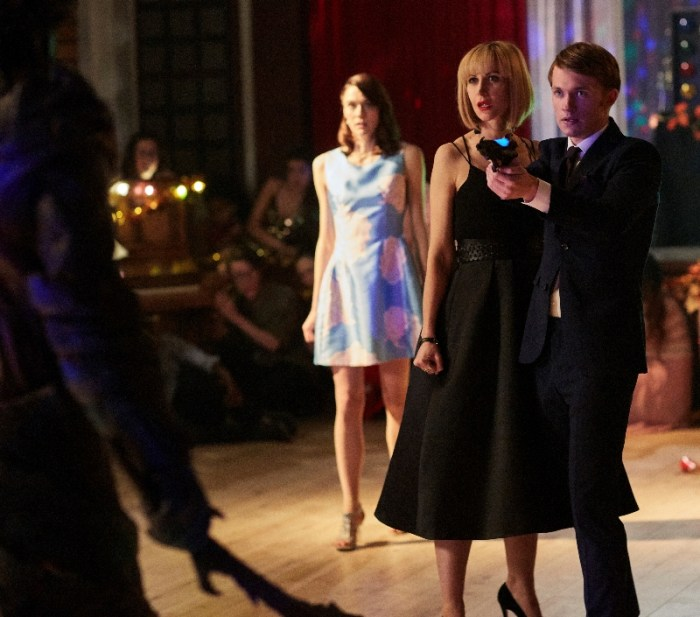 Class - April (SOPHIE HOPKINS), Miss Quill (KATHERINE KELLY), Charlie (GREG AUSTIN)