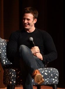 "Actor Chris Evans speaks onstage at ""Wind River"" special screening at SCADShow on November 29, 2017 in Atlanta, Georgia"