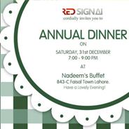 Invitation Card For Dinner Arfa Technologies A Design House La Stan Print Media
