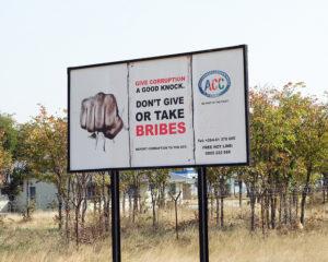 An anti-corruption billboard in Namibia