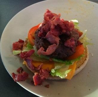 Hamburgare med bacon
