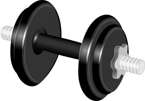 Hantlar, vikt, träna