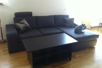 Veckans plus: Min nya soffa, Chicago från Mio! Får ett ärr i samma mönster som tyget.
